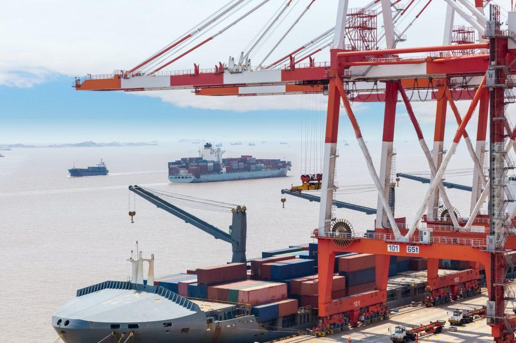 container gantry crane in shanghai port